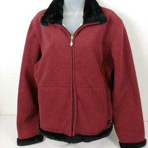 Browning For Her Jacket Women's XL Burgundy Fleece